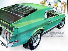 1970 FORD MUSTANG MACH 1 ORIGINAL AD - V8 engine/351/428/Boss 302/429/GT/headers
