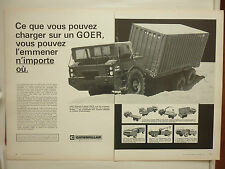 1/1974 PUB CATERPILLAR GOER TRACTEUR REMORQUE MILITARY TRUCK FRENCH AD