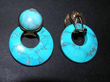 faux turquoise pierced earrings