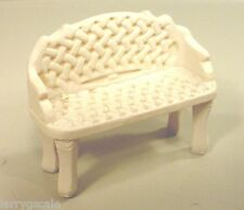 Wrought Iron Garden Bench Miniature 1/24 Scale G Scale Diorama Accessory Item