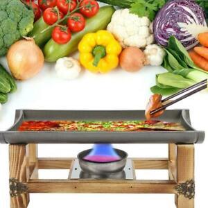 Barbecue Grill Portable Gas BBQ Plate Camping Garden Outdoor Picnic Pan Cookware