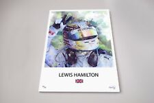 A4 Lewis Hamilton Limited Edition Artwork - 5 time world champ