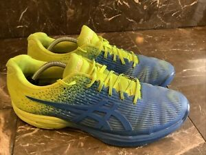Asics Men's Size 10.5 Solution Speed FF L.E. Blue/Yellow 1041A028-400