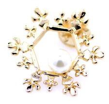 Broche / épingle à neige en or avec perle