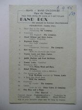 BAND BOX 1955 Hove Open Air Theatre Programme (Mabel Wilman Steve Cairns)