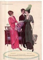 1912 Original Delineator Fashion Print - Winter waists and skirts with jumper