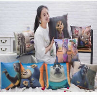 Pillow Case Cotton Linen Car Sofa Bed Waist Throw Cushion Cover Home Decoration