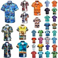 New Adults Kids Cotton Hawaiian Beach Shirt Cool Dry Tropical Summer Casual Tops