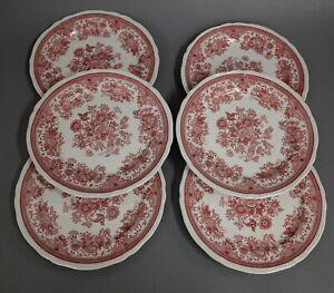 6 x Kuchenteller Villeroy & Boch Fasan rot 20 cm