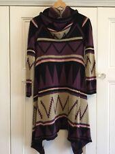 Beaute Long Hooded Cardigan Wool Blend Medium?