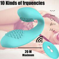 10 Speeds Wearable_U-Type Vibrator_Clitoris-G-Spot-Stimulation-Waterproof-Dildo