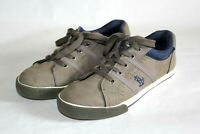 Nautica Outpoint Tennis Shoes, Sneakers, Brown with Blue, Youth Size 4