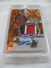 2015-16 Panini Spectra BKB #121 Bobby Portis Bulls ROOKIE PATCH AUTO ORANGE #/25