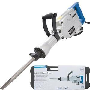 Silverline Electric Demolition Jack Hammer Drill Concrete Breaker Chisel 1500w