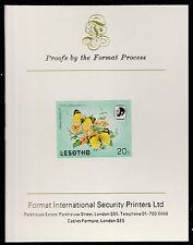 Lesotho (594) 1984 Butterflies 20s imperf on Format International PROOF  CARD