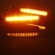 ABS Plastic Motorcycle Black LED Turn Signal Light Indicators Blinker Amber ZU