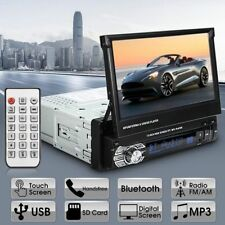 "7"" Touch Screen Single Din 1 DIN Car Stereo Flip out DVD Player Bluetooth RDS PP"