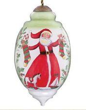 Holly Jolly Christmas Ne'Qwa Ornament Santa Claus Stockings Horse Candy Canes