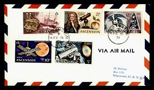 DR WHO 1971 ASCENSION AIRMAIL TO USA SPACE COMBO  g20373