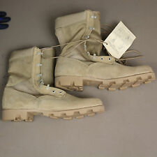 4008 Wellco U.S.Army Hot Weather Boots Leather/Canvas Tan12 Reg