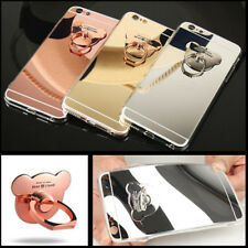 Luxury Women Bling bear ring holder kickstand Slim Soft Case For Samsung Galaxy