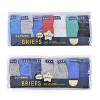 Boys Kids 7 Pack Briefs Shorts Underwear Classic Design School 2/3 3/4 5/6 7/8