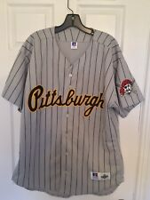 AUTHENTIC Russell Athletic PITTSBURGH PIRATES Black Jersey 48 Vintage 90's Bonds