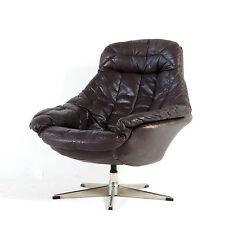 Rétro Vintage Danois bramin pivotant en cuir Fauteuil lounge chaise œuf 60 s 70 s