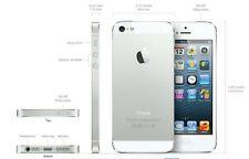 New Apple iPhone 5s Silver Factory Unlocked Movistar Vodafone H2O Straight Talk