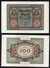 100 mark Reichsbanknote Germany 1920  qFDS/UNC-  #