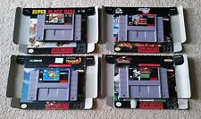 4 SNES games w box Tested Super nintendo Black Bass Dig & Spike Pinball Baseball
