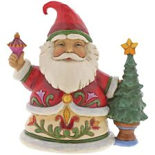 Jim Shore Heartwood Creek 4058804 Tiny Trimmings Santa with Tree Figurine