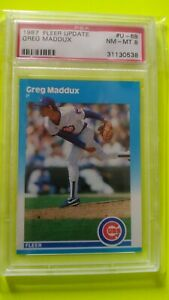 Greg Maddux 1987 Fleer Update PSA 8 NM/MT RC Chicago Cubs Atlanta Braves HOF