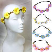 Daisy Garland Hairband Headband Christening Festival Elastic Flower Floral Hair