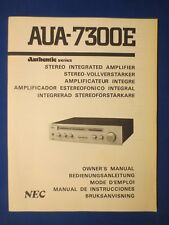 New listing Nec Aua-7300E Authentic Int Amp Owners Manual Factory Original The Real Thing