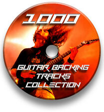 1000 MP3 CD/DVD ROCK GUITAR BACKING TRACKS COLLECTION