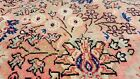 Exquisite Antique 1930-1940's Wool Pile Rose Dye Oushak Area Rug 8x11ft