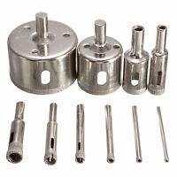 10Pcs Diamond Hole Saw 3-50mm Drill Bit Saw Set Tile Ceramic Marble Glass C V3C5