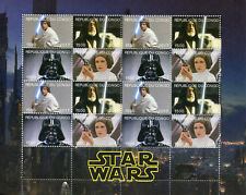 Congo 2017 CTO Star Wars Princess Leia Darth Vader Luke Skywalker 16v M/S Stamps