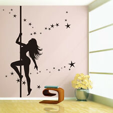 Pole Dance with Stars... UK Dance Studio Wall Sticker