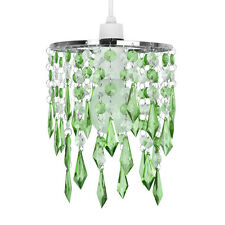 Modern Chrome / Green & Clear Ceiling Pendant Light Shade Chandelier Lampshade