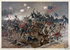 US American Civil War Battle of Spottsylvania Art Print 11x8 Inches