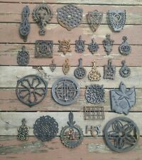 28 Vintage Mostly CAST IRON TRIVETS LOT Instant Collection Mini Sad Iron Footed