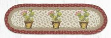 "Braided Jute Stenciled Stair Tread Rug. CACTUS FLOWER. Earth Rugs. 27"" x 8.25"""