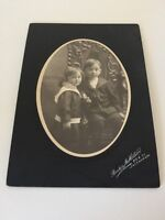 Vintage Black White Photo Of Two Children Early 20th Century