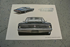 NOS 1967 Dodge Charger 426 Hemi Art Picture Print Dealer Advertising MOPAR