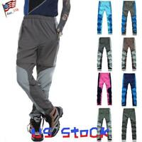 Mens Waterproof Outdoor Sports Quick Drying Pants Trousers Shorts Convertible US