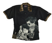 ROLLING STONES Black Shirt Men's Large Keith Richards Dragonfly Hard Rock Hotel