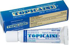 TOPICAINE 4% LIDOCAINE GEL (10 GRAMS) ANESTHETIC SKIN NUMBING CREAM