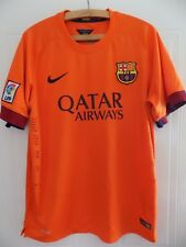 FC Barcelona La Liga Football Shirt Messi Neymar RARE Soccer 2014 Fit Trikot